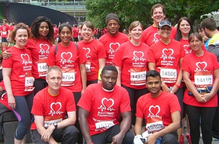 BHF canary wharf run 21 May 2014