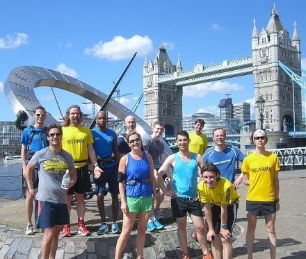 faster group at Tower Bridge
