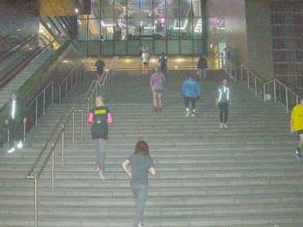 JL group at Stratford City/Westfield step