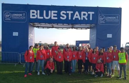 volunteering london marathon 220418
